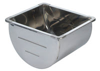 Stainless Steel Dairy Wash Trough 50 litre
