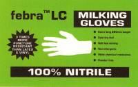 febra ™LC Cuffies nitrile milking gloves