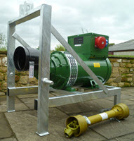 26kva single phase linkage mounted PTO Generator