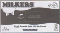 Milkers black nitrile milking gloves