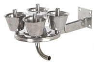 Stainless steel jetter tray / cluster washer with stainless steel jetter cups