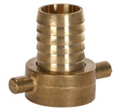 Brass hose coupling