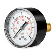Pressure gauge for parlour wash down systems