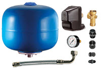 Auto pump control kit with pressure vessel