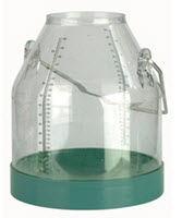 Interpuls clear milking bucket with green base