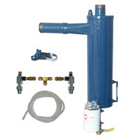 Tubemiser vacuum pump exhaust / cyclone