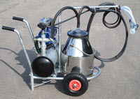 Portable milking machine for goats