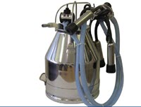 Stainless steel milking bucket complete