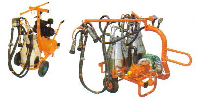 1 bucket trolley - oil free pump  2 bucket trolley - lubricated pump