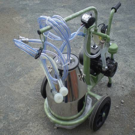 Single portable milking portable trolley.